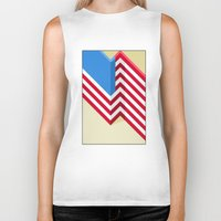 flag Biker Tanks featuring Flag by Ryan Winters