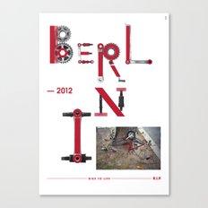 Bike to Life - Berlin Canvas Print
