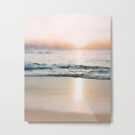 Oahu Sunset / Beach Photography Metal Print