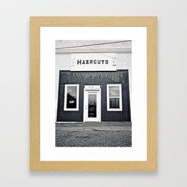 Haircuts Framed Art Print