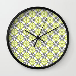 Cog Buttons - Green and Grey Wall Clock