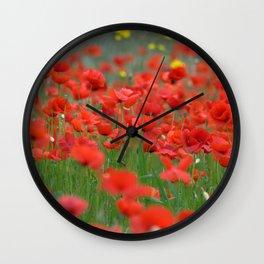 Poppy field 1820 Wall Clock