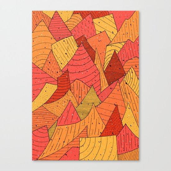 Pumpkin Slices Canvas Print
