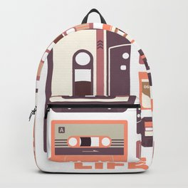 Life is a mixtape - Summer Copper Collection Backpack