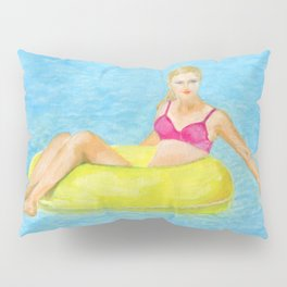 The girl in the pool Pillow Sham