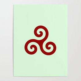 Triskele 11 -triskelion,triquètre,triscèle,spiral,celtic,Trisquelión,rotational Poster