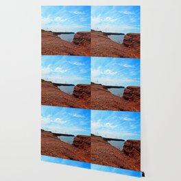 Cliffside Wind Turbines Wallpaper