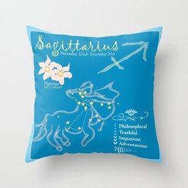 Sagittarius Horoscope Throw Pillow