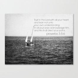 Proverbs 3 Nautical Canvas Print