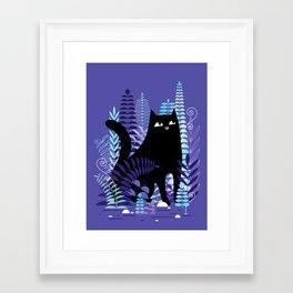 The Ferns (Black Cat Version) Framed Art Print