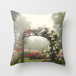 Blooms In Fog III Throw Pillow
