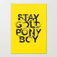 stay gold Canvas Prints featuring Stay Gold by Lucas Young