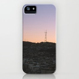 blurred sunset  iPhone Case