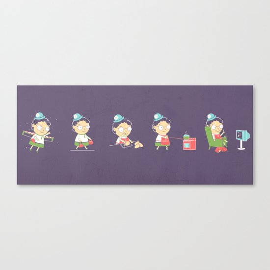 The Peculiar Life Of Mrs Nesbit Canvas Print
