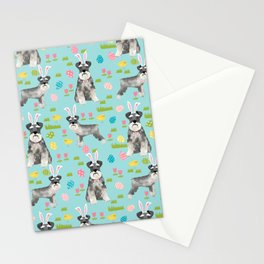 Schnauzer easter costume spring easter bunny pure breed dog pattern gifts Stationery Cards