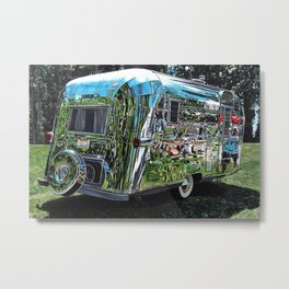 1959 Streamline Trailer Metal Print