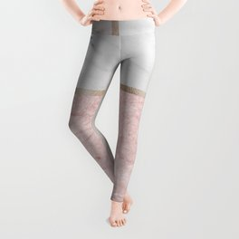 Pink stones - rose gold adorns Leggings