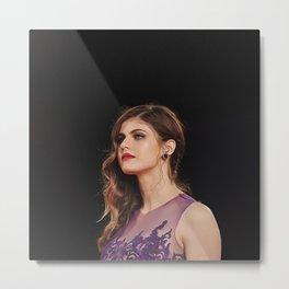 Alexandra Daddario - Celebrity (Oil Paint Art) Metal Print