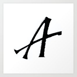Letter A Ink Monogram Art Print