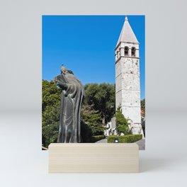 Gregory of Nin statue in Split - Croatia Mini Art Print