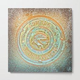 Astoria Storm Water, Psycedelic Metal Print