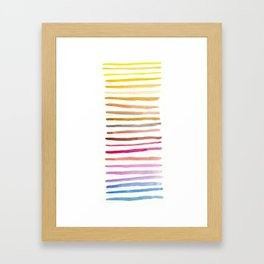 Differences in Color Framed Art Print