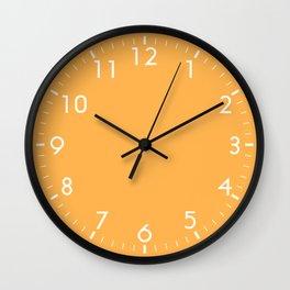 Orange Solid Color Block Wall Clock
