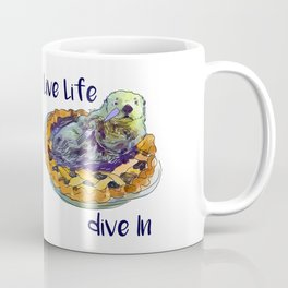 Otter says Live Life Dive IN Coffee Mug