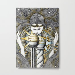 Lady of light Metal Print