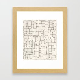 Stone Wall Drawing #3 Framed Art Print