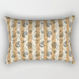 Stripes & Shells - orange Rectangular Pillow