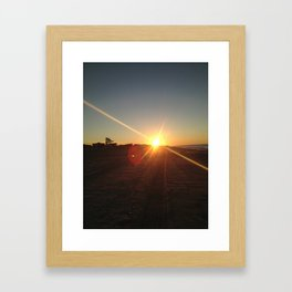 Ocean Sunrise Framed Art Print