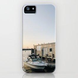 Rhode Island Fishing Village at Sunset iPhone Case