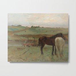 Horses in a Meadow Metal Print