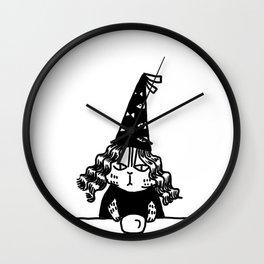 Wizard Cat Wall Clock