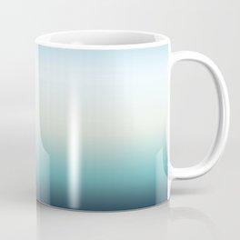 ocean sky color gradient  - blue , white , black Coffee Mug