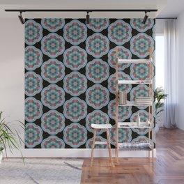 Transparent Floral Sushi Geometric Pattern Wall Mural