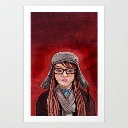 Mon Amie Art Print