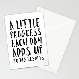 A Little Progress Motivational Quote Stationery Cards