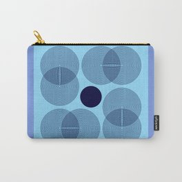 Geometric Flower - Lavender Blue Minimalism Carry-All Pouch