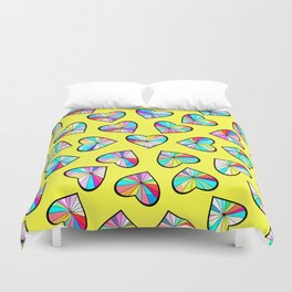 Hearts of glass II Duvet Cover