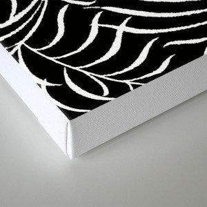BLACK AND WHITE LEAF PALM Canvas Print