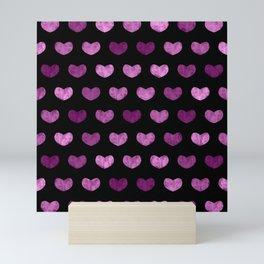 Colorful Cute Hearts VI Mini Art Print