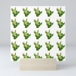 Golden Cactus i Tile Mini Art Print
