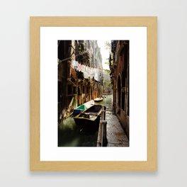 Laundry Day in Venice Framed Art Print