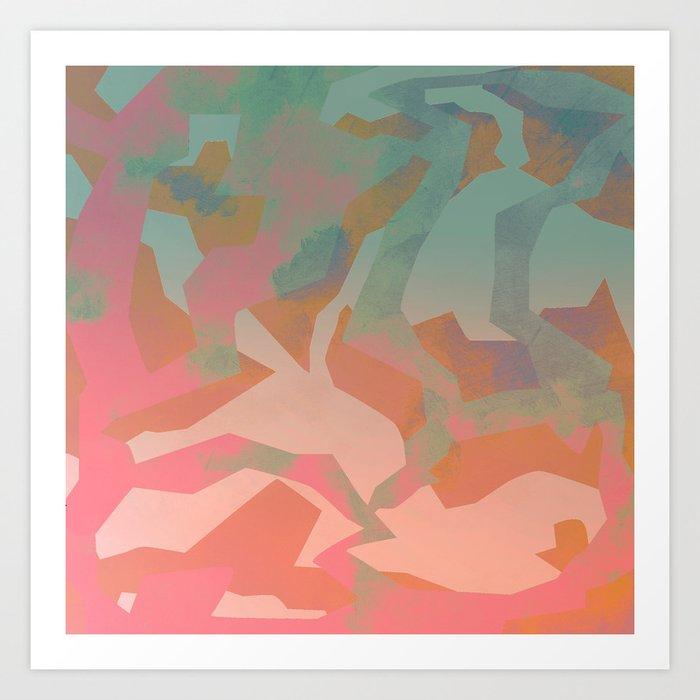 Camouflage IX Art Print