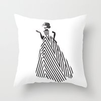 dress Throw Pillows featuring Dress by Yordanka Poleganova
