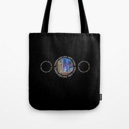 Times Square New York Triple Emblem (on black) Tote Bag