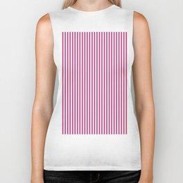 Pink Yarrow Stripes Biker Tank