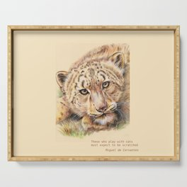 Big Cat & Quote Serving Tray